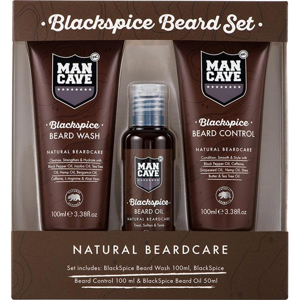 Man Cave Hair Products : Aktion man cave blackspice beard set bartpflege
