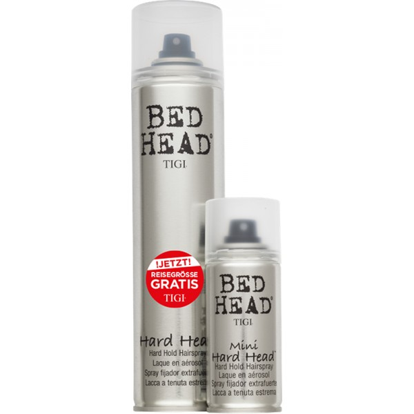 aktion tigi bed head hard head hairspray 385 ml gratis. Black Bedroom Furniture Sets. Home Design Ideas