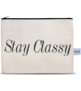 4LOU Vanity Bag Stay Classy - 100% Canvas Swarovski Applikationen