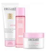 Aktion - Declare Body Care Set Eau de Declare + Silky Soft Body Cream + gratis Duschgel