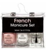 Alessandro French Manicure 3er Set, Mini 3 X 5 ml