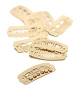 Balmain  Clips Brush Cape DoubleHair clips 10pcs beige