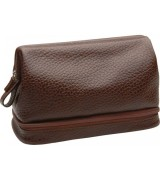 Erbe Collection Kulturtasche, braun, 30 x 20 cm, mit...