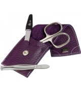 Erbe Collection dreiteiliges Manicure Set im Lederetui 10...