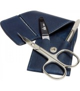 Erbe Collection dreiteiliges Manicure Set im Lederetui,...