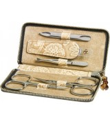 Erbe Collection fünfteiliges Manicure Set im Lederetui,...
