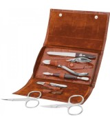 Erbe Collection sechsteiliges Manicure Set im Lederetui,...