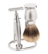Erbe Shaving Shop Rasierset Tradition dreiteilig, matt