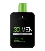 Schwarzkopf [3D] Men Hair & Body Shampoo 250 ml