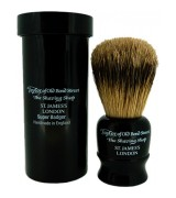 Taylor of Old Bond Street Travel Super Badger Shaving Brush Black