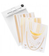 Wonderstripes Metallic Fashion-Tattoos - Classic-Set 3 Bögen