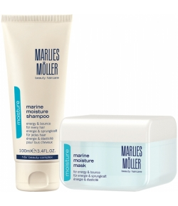 Aktion - Marlies Möller Set Marine Moisture Mask 125 ml + gratis Marine Moisture Shampoo 100 ml