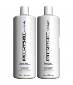 Aktion - Paul Mitchell Extra-Body Save On Duo 2 x 1000 ml Shampoo + Conditioner
