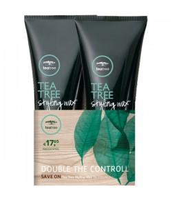 Aktion - Paul Mitchell Tea Tree Styling Wax 2 x 200 ml  - Buy One, Get One 50% Off