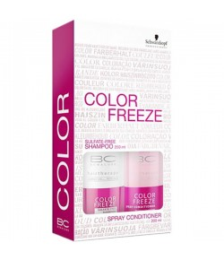 Aktion - Schwarzkopf BC Bonacure Color Freeze Set Shampoo + Spray Conditioner