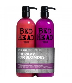 Aktion - Tigi Bed Head Dumb Blonde Tween Duo Shampoo + Reconstructor 2 x 750ml