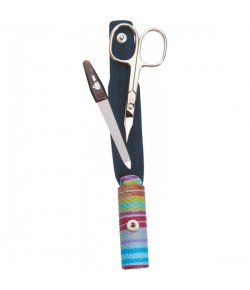 Erbe Collection zweiteiliges Manicure Set im Kunstleder-Etui, bunt, 10,0 x 4,0 cm