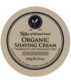 Taylor of Old Bond Street Organic Shaving Cream 150 g