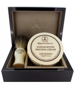 Taylor of Old Bond Street Sandalwood Lacquered Wooden Gift Box Pure Badger