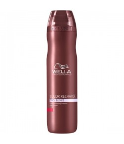 Wella Care³ Color Recharge Silver Blond Shampoo Kühle Blondtöne 250 ml
